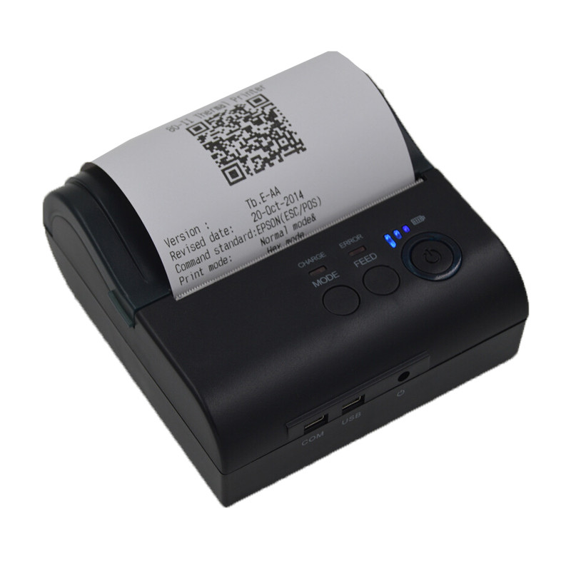 Portable Thermal Printer 80mm Bluetooth2.0 4.0  USB Receipt ZJ 8001LD Bill Termal POS Printer Windows Android  POS 8001LD