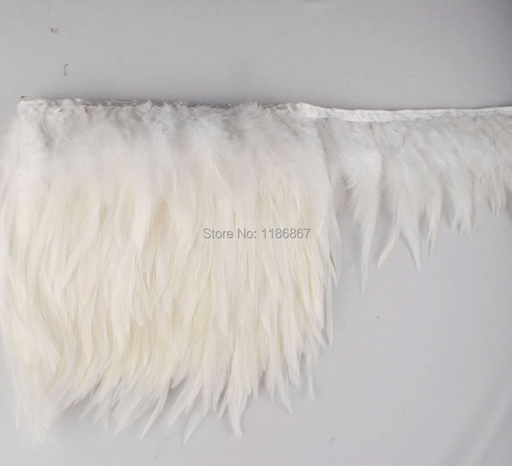 Free Shipping Height 4 6 10 15cm White Rooster Hackle Feather Fringe Tail T In From Home Garden On Aliexpress