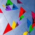 30 M/50 Bandeiras corda bandeira bandeiras decoração de casamento fontes do partido de aniversário casado Azul Cor Vermelha Mancha Tecido Estamenha bandeiras