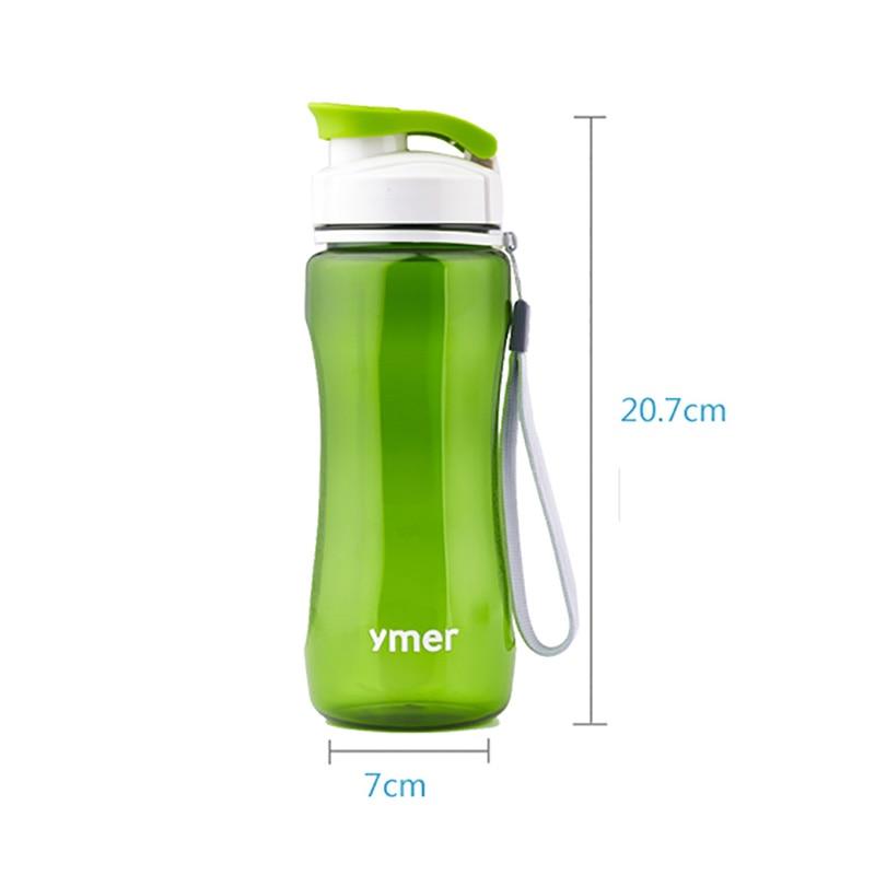 560ml/590ml Leak-proof Watter Bottle With Rope Drinkware Unbreakable BPA free Plastic Water bottle leak-proof