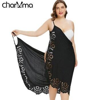 e7ca9099a8b 2018 плюс размер пляжное платье с цветочным принтом кафтан летнее женское  кафтан пляжные платья Женская Повседневная