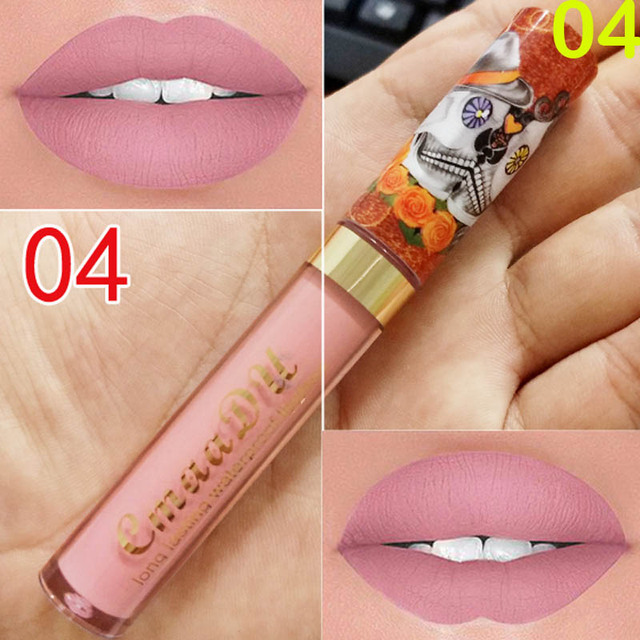 New Brand 6 Colors Matte Liquid Lipstick Waterproof Velvet Lip Stick Women Beauty Nude Lip Gloss Long Lasting Cosmetics Kit 4