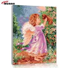 Framless Picture Painting By Numbers Home Decor For Living Room DIY Canvas Oil Painting Wedding Decor Wall Art 40*50cm 4050559(China)