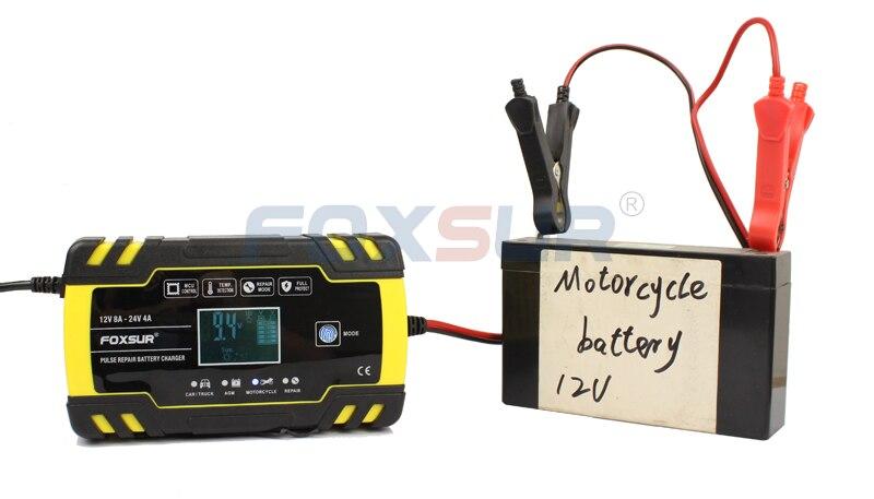 Image 3 - FOXSUR 12V 24V Motorcycle Golf  Car Battery Charger Maintainer