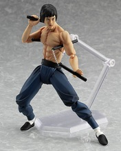 2017 New MF Bruce Lee figma 266# active Action Figure Chinese movie  kungfu star Classic scene toys 14CM gift for children
