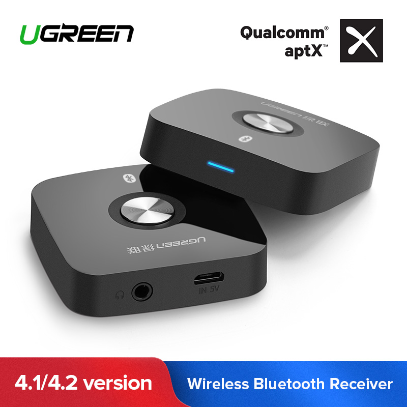 Ugreen 4,2 Bluetooth receptor inalámbrico de 3,5mm Aux receptor estéreo de Audio receptor de música Bluetooth Audio del coche adaptador Aux receptor