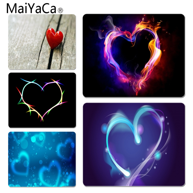 MaiYaCa Custom Skin Cool heart Office Mice Gamer Soft Mouse Pad Size for 180x220x2mm and 250x290x2mm Rubber Mousemats