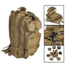 JHO- 30L Outdoor Sport Military Tactical Backpack Rucksacks Camping Hiking Trekking Bag Khaki