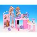 Миниатюрная мебель по уходу за ребенком центра обработки аксессуары для куклы барби дома классические игрушки для девочки бесплатная доставка