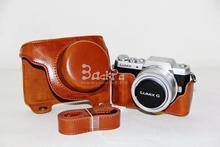 PU Bolsa Case Capa com Alça de Ombro Câmera de Vídeo para Panasonic Lumix GF7 GF8