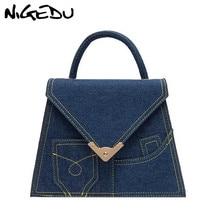 NIGEDU Denim Bag women Top-handle Bags