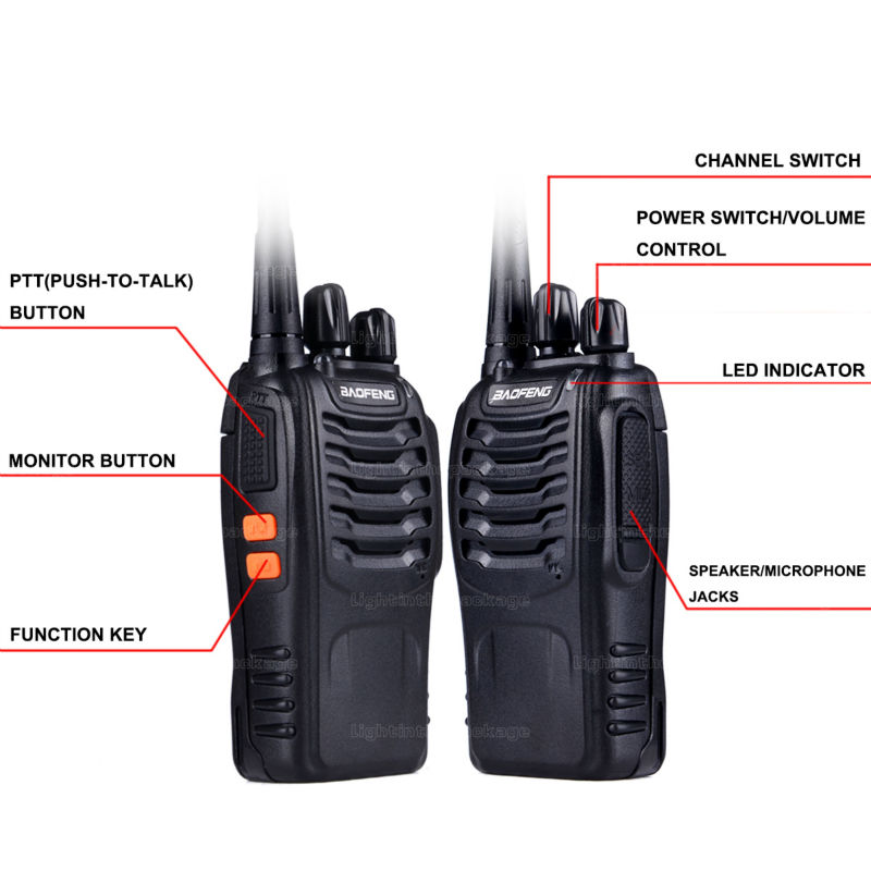 Baofeng BF-888S Walkie Talkie 5W Handheld Pofung bf 888s UHF 5W 400-470MHz 16CH Two Way Portable CB Radio (14)