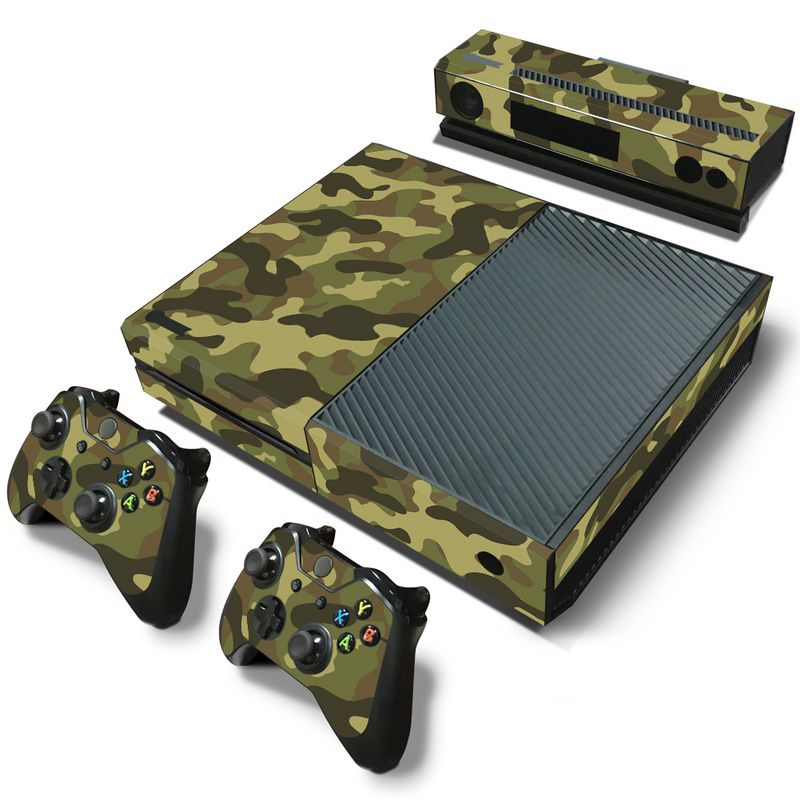 lowest price Camouflage Game Cosole Decal Skin Stickers For Xbox One Console Vinyl Skin 2PCS Controller Stickers