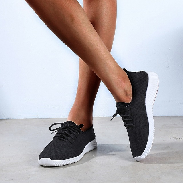 Oeak Shoes Lace up Woman Casual Breathable Soft Ladies Vulcanized Shoes zapatos de mujer women shoes 2019 Fashion Women Sneakers