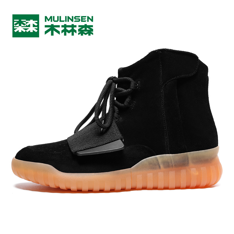 New Men Sport Trail Shoes leather Walking Outdoor Shoes Height Increasing Runner Athletic Shoes,Mulinsen S260116 li ning new arrival skateboard boot height increasing winter high top sport shoes sneakers walking shoes men alak049 xmr1159