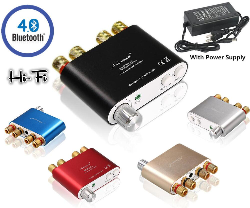 ФОТО 2017 Lastest Nobsound HiFi 100W TPA3116 Mini Bluetooth 4.0 Digital Amplifier Amp Home Audio With Power Supply FREE SHIPPING