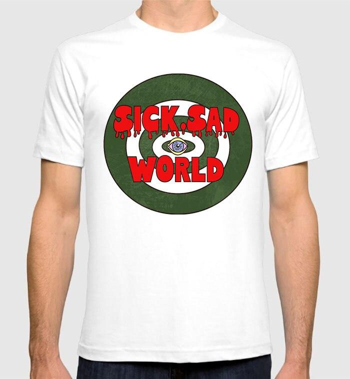 2018 New Arrivals Daria Morgendorffer Sick Sad World T-shirt 90s Retro Mens Womens Tee Printed T Shirts Mens Streetwear