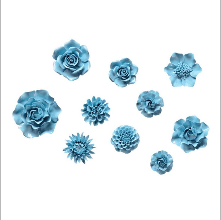 Ceramic Flower Wall Decor ceramic flower wall art promotion-shop for promotional ceramic