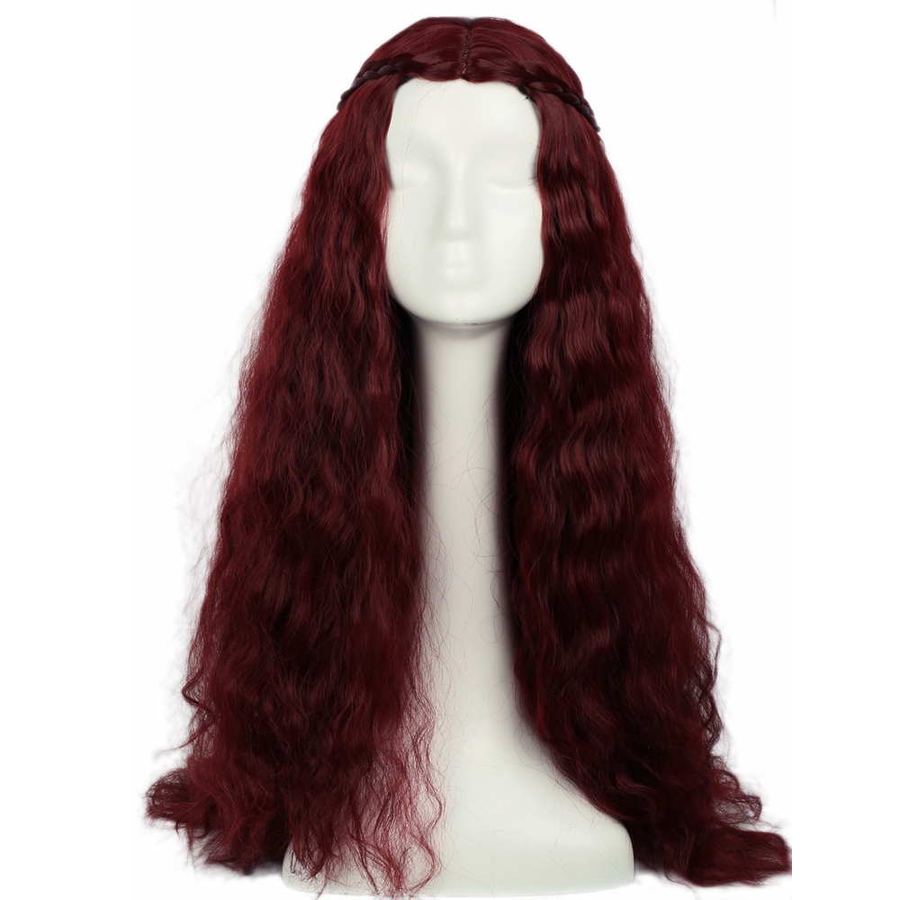 Coslive Halloween Melisandre Hair Game of Thrones Hair Costume Cosplay Long Wavy Curly H ...