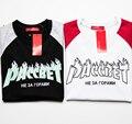 Gosha Rubchinskiy T Shirt Homens 1:1 Hip Hop Moda SKATE Verão Paccbet Gosha Camiseta Homme Impressão Palácio Chama 100% Algodão Tee