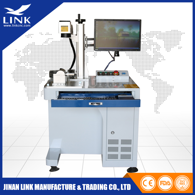 20w Fiber Laser Marking Machine On Stainless Steel Cnc
