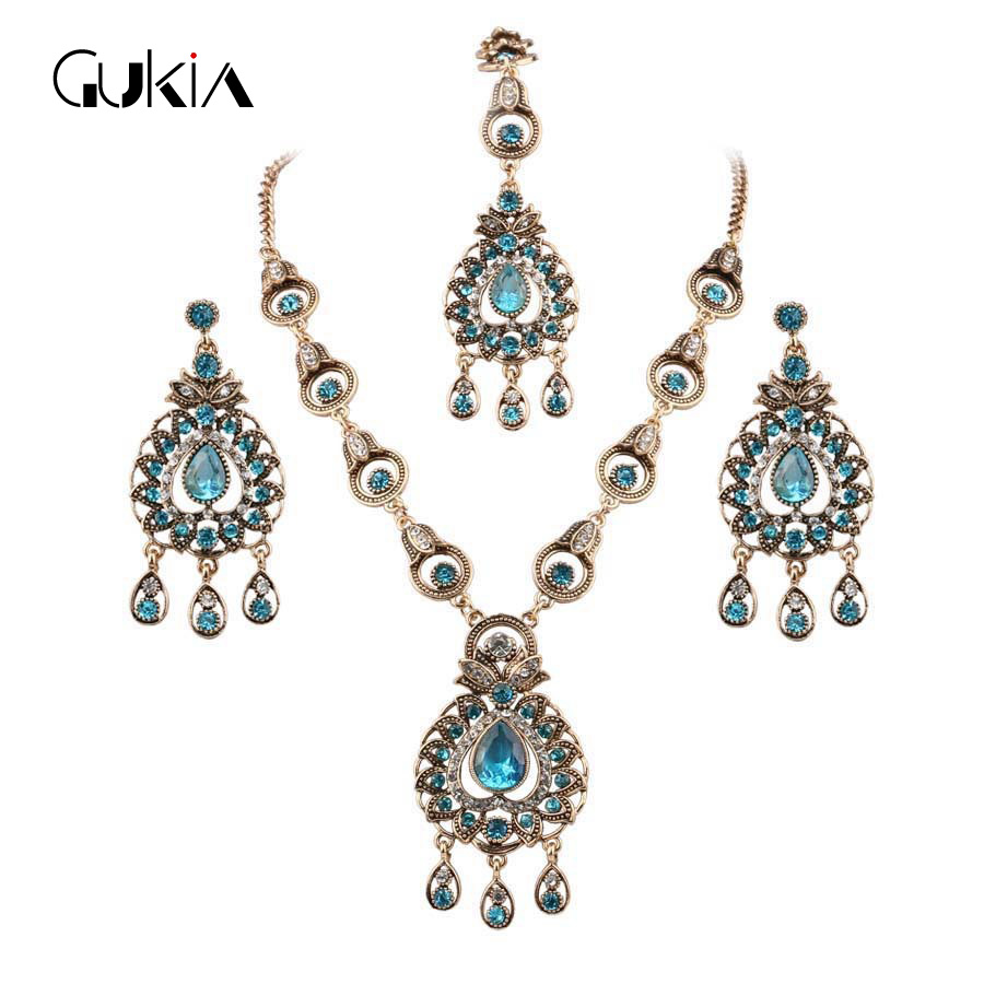 charm India Vintage Look Jewelry Sets Pendants Necklace Earring For - Fashion Jewelry