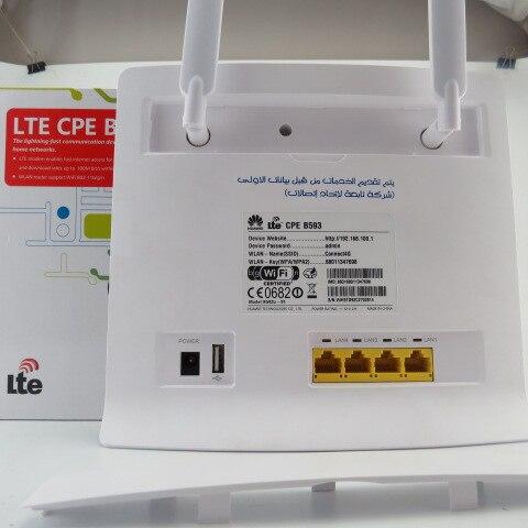Huawei B593u-91 100 Mbps 4G TDD LTE CPE Routeur Débloqué pour Ordinateurs/Tablettes