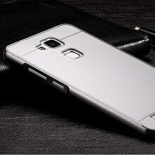 JZ Двойной Гибридный Металл Алюминиевый Бампер + Задняя Крышка Huawei Moblie Телефон Случаях Для Huawei Ascend mate7 mate7 Противоударный Корпус