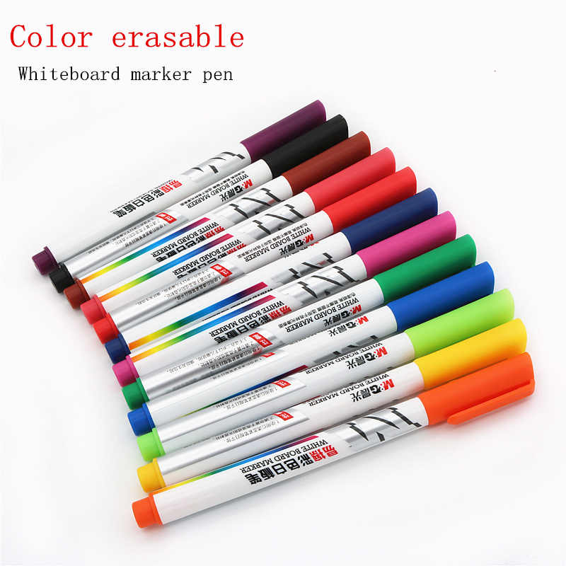 Color Whiteboard markers water-based erasable marker pen nontoxic writing and drawing learning pen for children