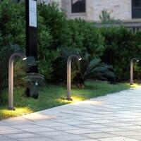 Işıklar ve Aydınlatma'ten Açık Hava Manzara Aydınlatma'de IÇINDE SULU Modern Avlu Çim Çim Bahçe Kavisli Işık Açık peyzaj ışığı Su Geçirmez Villa Park Lambası