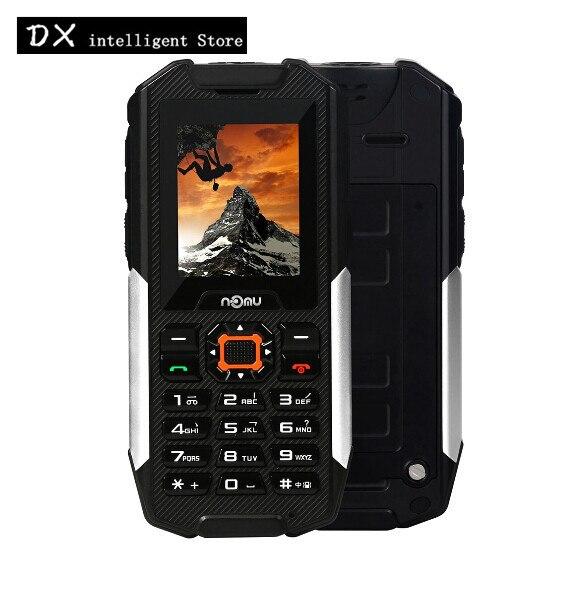"Nomu T10 2.0"" Russian Mobile Phone Flashlight Loud Speaker Dual SIM Bluetooth FM 2800mAh Power Bank IP68 Waterproof Oudoor Phone"