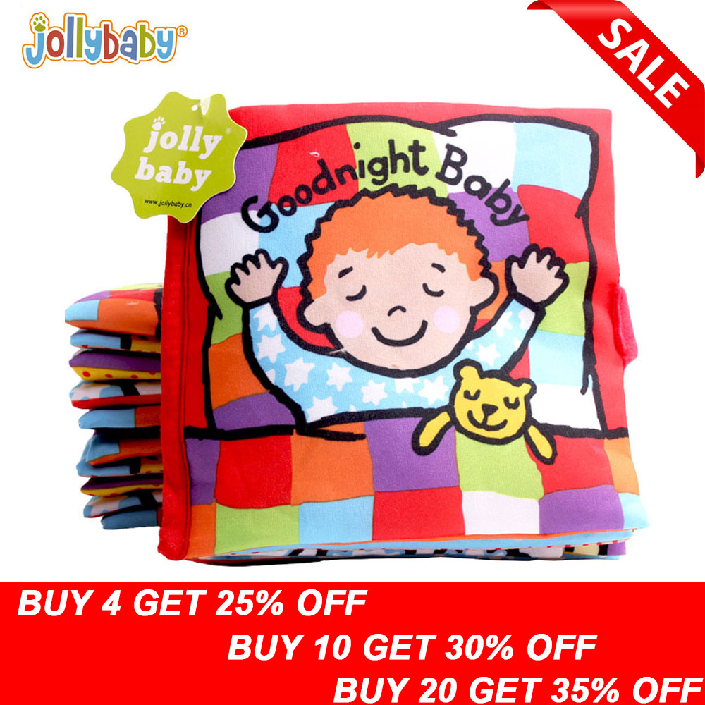 Jollybaby Soft Cloth Books Peek A Boo Fabric Activity Crinkly Books Educational Infant Baby Toys For Children