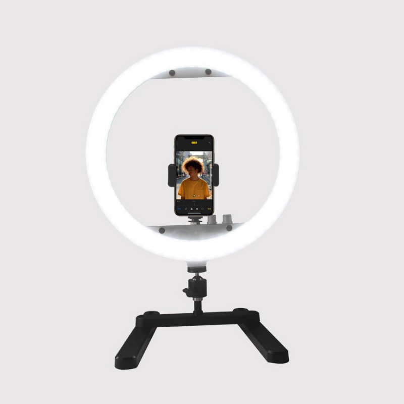 Mamen 13 Inch 30W Photography LED Selfie Ring Light Stepless Lighting Dimmable With Cradle Head&phone Clip For Makeup Video LiveMamen 13 Inch 30W Photography LED Selfie Ring Light Stepless Lighting Dimmable With Cradle Head&phone Clip For Makeup Video Live