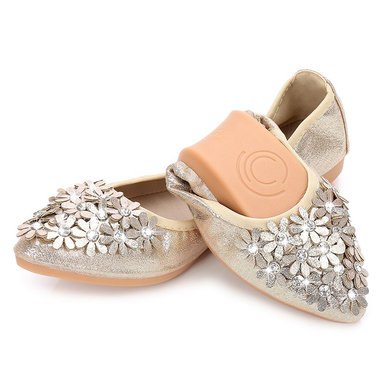 Us 16 66 30 Off Women Ballet Flats Soft Comfort Wedding Shoes Bride Bridesmaid Guests Girls Flexible For Drive Walking Dressy Travel Slip On In