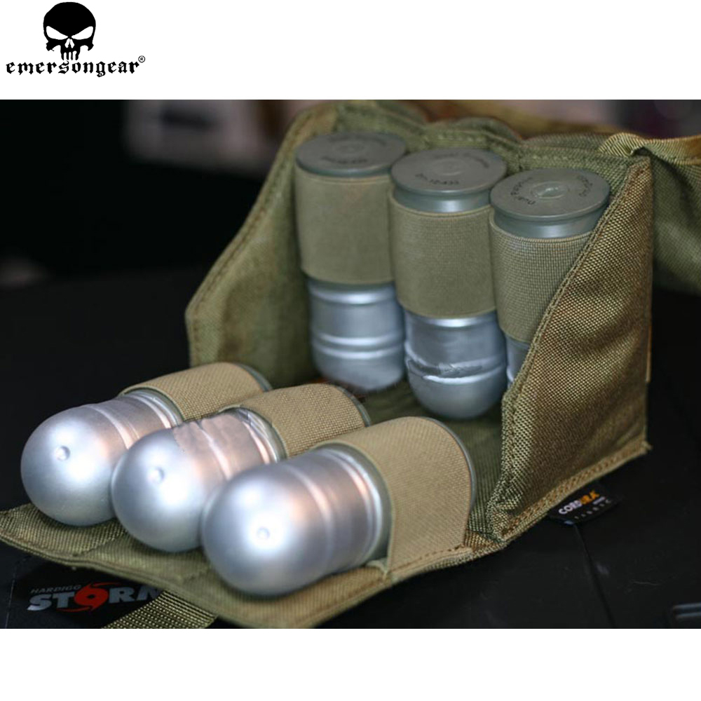 EMERSONGEAR Six Pack Grenade Modelo Pouch Tactical Molle Grenade funda PARA 40 MM Airsoft Military EM8509