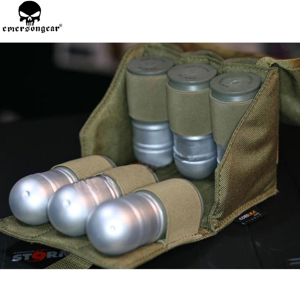 Pochette de modèle de Grenade EMERSONGEAR Six Pack poche de Grenade Molle tactique pour 40 MM Airsoft militaire EM8509