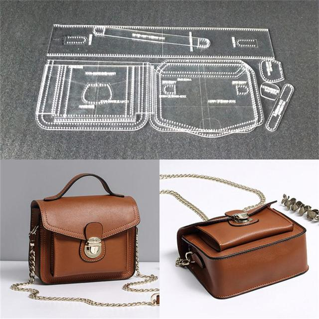 1set Acrylic Template Pattern For Women Shoulder Bag Soft Leather