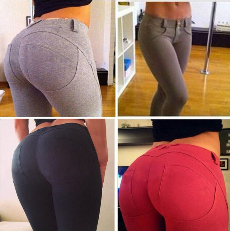 The latest fashion hit in 2019, women's Tight Sexy peach buttocks bottom pants, women's hip trousers, perfect hip display pants