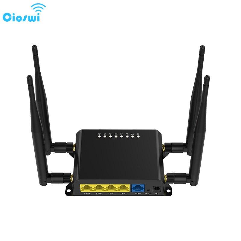 Routeur sans fil 4G Lte Cioswi routeur Wifi Openwrt 4G avec emplacement pour carte SIM installation facile Point d'accès Wi-fi de poche