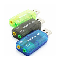 1pcs Color Sent Randomly USB Sound Card USB Audio 7 1 External USB Sound Card Audio