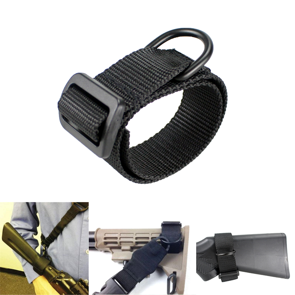 Heavy Duty Tactical ButtStock Sling Adapter Universal Fit for Shotgun Rifle Attachment Mount universal steel sling mount adapter black