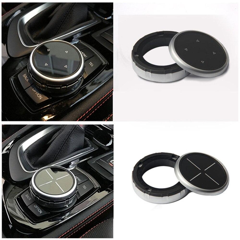 Dewtreetali Car Multimedia Buttons Cover M Emblem Stickers for BMW X1 X3 X5 X6 F30 E90 E92 F10 F18 F11 F07 GT Z4 F15 F16 F25 E60