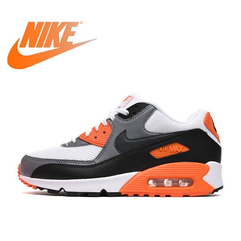 Original auténtico NIKE para hombre AIR MAX 90 zapatos transpirables esenciales para correr zapatillas de deporte al aire libre zapatos de diseñador de marca de tenis