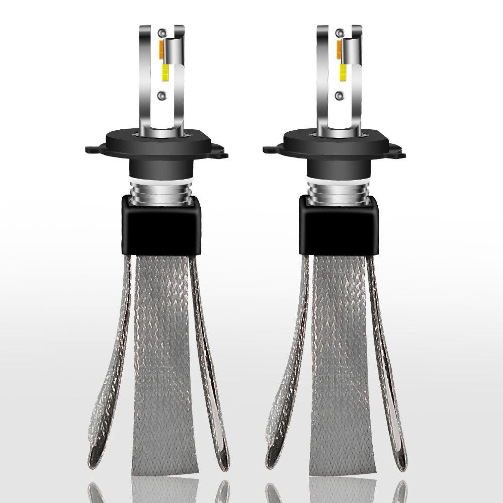 2018 Nuovo 3000 k 4300 k 6000 k Auto Faro Led H4 H1 9006 hb4 9005 hb3 H11 H7 LED lampadina Automobili Luci CSP Lampada 6000 k 12 v 24 v