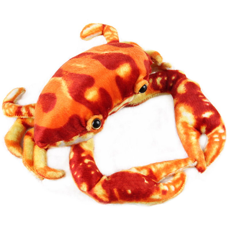 Ocean Creatures Plush Crab Cushion Doll Cute Stuffed Simulative Toys for Baby Kids Birthdays Gifts 27*23CM/10.5*9 wild world guinea pig plush cavia porcellus doll cute stuffed simulative toys for baby kids birthdays gifts 17 10cm 7 4