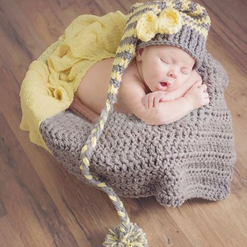 409f4f9fcd17 ... 2017 newborn baby girls boys knit crochet hat costume photo photography  prop outfits apr613; christmas infant baby girls knit caps ...