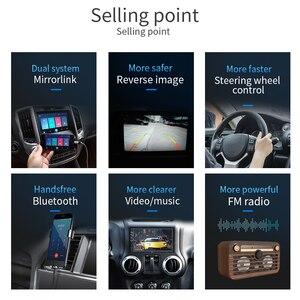 """Image 4 - 7 """"12 V HD écran tactile Bluetooth voiture MP4 MP5 lecteur vidéo Audio FM Radio caméra de recul téléphone connecter voiture Displayer mains libres"""