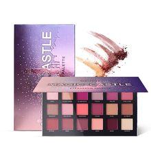 QIBEST 18 Color/Set Eyeshadow Palette Pigments Waterproof Shimmer Glitter Nude Eye shadow Make up ruby rose