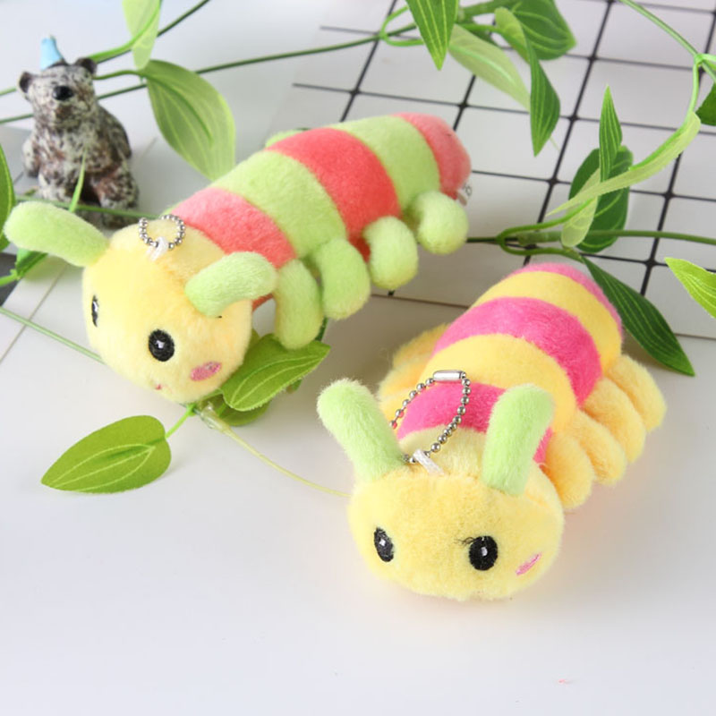 Stuffed Toy Crib Pram Baby Stroller Pendant Mobile Rattle Infant Wind Chime Appease Doll Kawaii Plush Caterpillar Pom Doll Toys