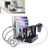 Universal Multi 6 Port 8.8A USB Charging Station Dock Travel Charger Adapter Holder For iPhone 6 7 8 plus for iPad Android